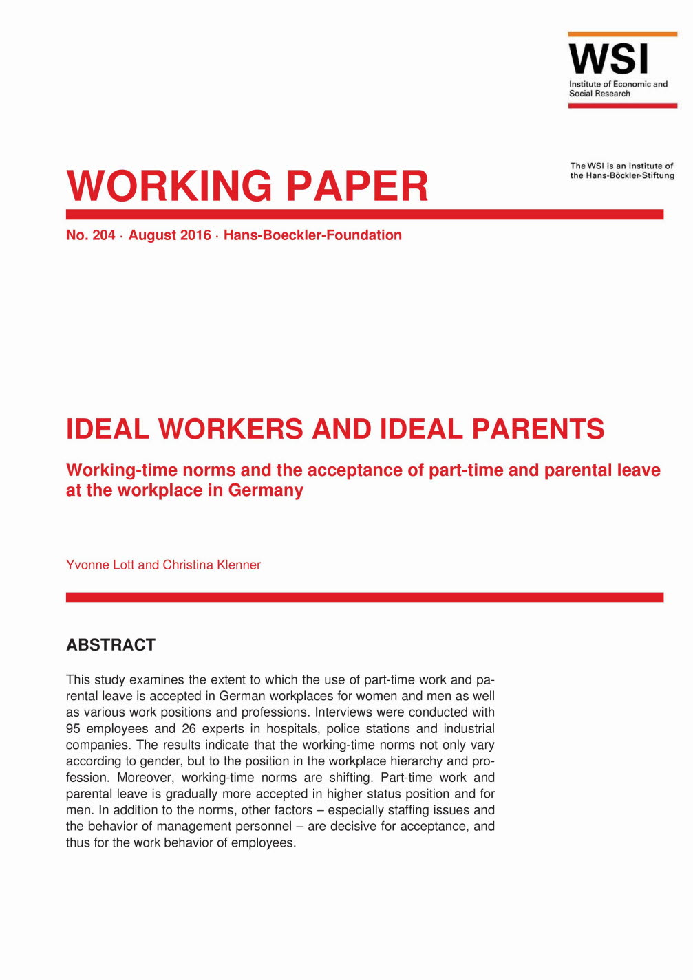 Ideal workers and ideal parents