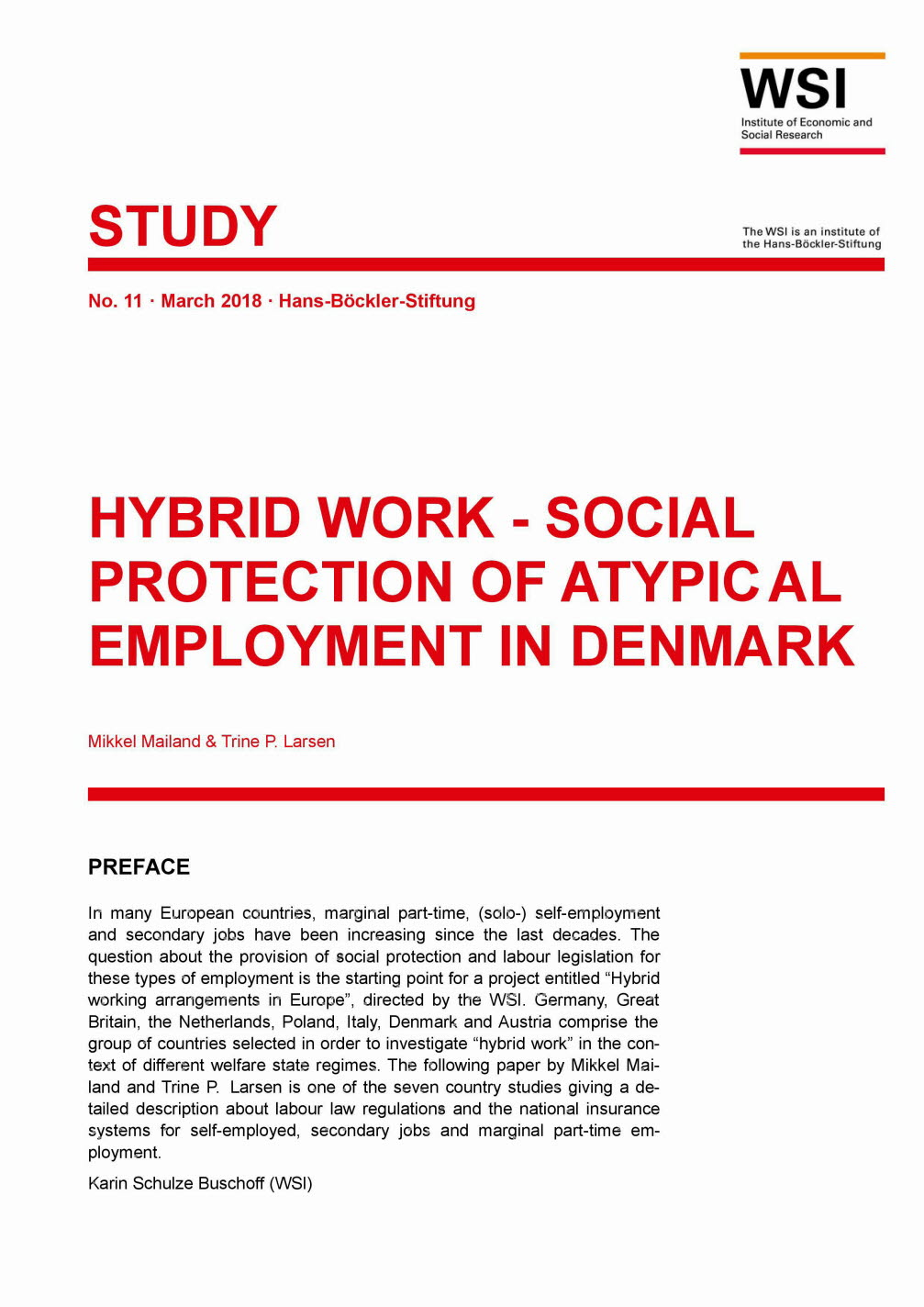 Hybrid work - social protection of atypical employment in Denmark